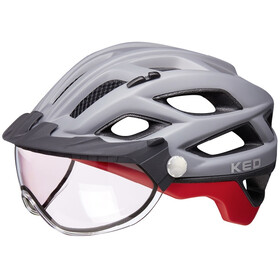 KED Covis Photocromatic Casco, grey/red matte